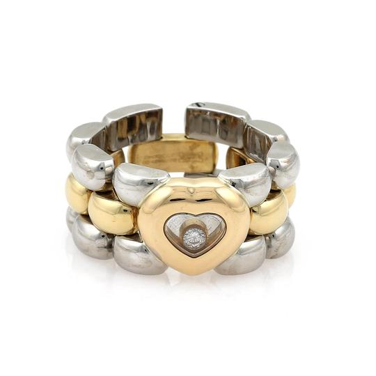 Preload https://img-static.tradesy.com/item/24607670/chopard-happy-diamond-18k-ygold-and-steel-heart-panther-link-flex-band-ring-0-0-540-540.jpg