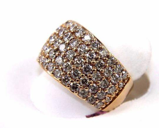 Other Round Diamond Wide 5 Row Cluster Dome Ring Band 14k Rose Gold 3.36Ct Image 1