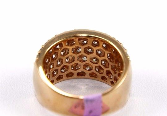 Other Round Diamond Wide 5 Row Cluster Dome Ring Band 14k Rose Gold 3.36Ct Image 3