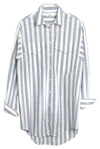 Madewell Shirt Striped Shirt Button Down Shirt Blue