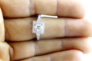 Other GIA Round Diamond Solitaire Ring w/Diamond Accents 14k WG 2.00Ct
