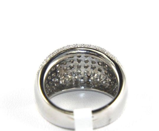 Other Brilliant Diamond Wide Pave Dome Cigar Ring Band 18k White Gold 1.82Ct Image 5