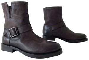 Frye Natalie Short Engineer Ankle Charcoal Boots