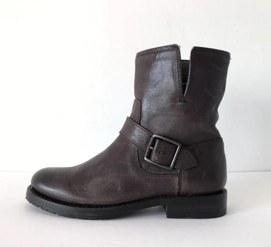 Frye Natalie Short Engineer Ankle Charcoal Boots Image 1