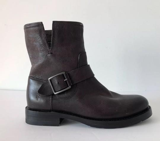 Frye Natalie Short Engineer Ankle Charcoal Boots Image 2
