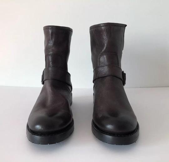 Frye Natalie Short Engineer Ankle Charcoal Boots Image 3