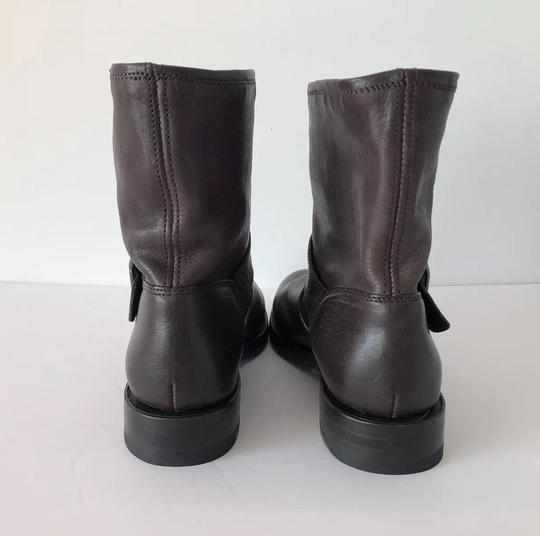 Frye Natalie Short Engineer Ankle Charcoal Boots Image 4