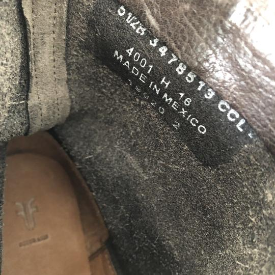 Frye Natalie Short Engineer Ankle Charcoal Boots Image 6