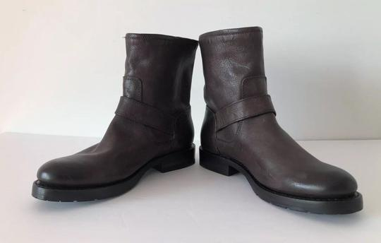Frye Natalie Short Engineer Ankle Charcoal Boots Image 7