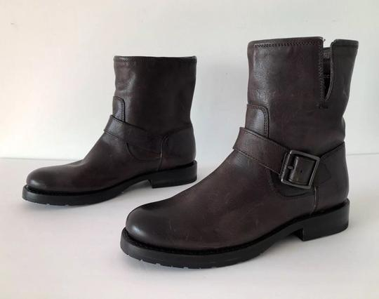 Frye Natalie Short Engineer Ankle Charcoal Boots Image 8