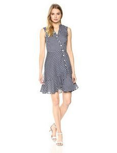 Shoshanna short dress Navy/White on Tradesy