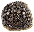 Other Fancy Color Round Diamond Cluster Dome Cigar Ring Band 14k YG 6.11Ct Image 0