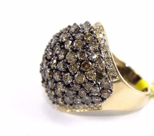 Other Fancy Color Round Diamond Cluster Dome Cigar Ring Band 14k YG 6.11Ct Image 6