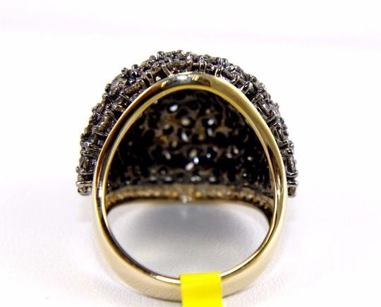 Other Fancy Color Round Diamond Cluster Dome Cigar Ring Band 14k YG 6.11Ct Image 7