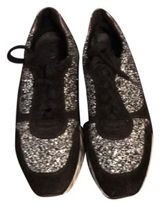 Bocage Glitter Sneakers French Black/silver Athletic
