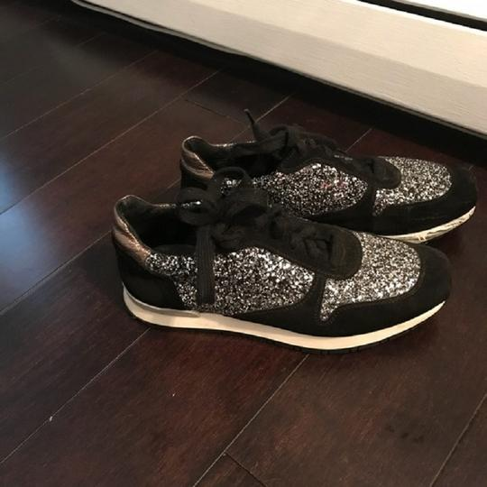 Bocage Glitter Sneakers French Black/silver Athletic Image 2