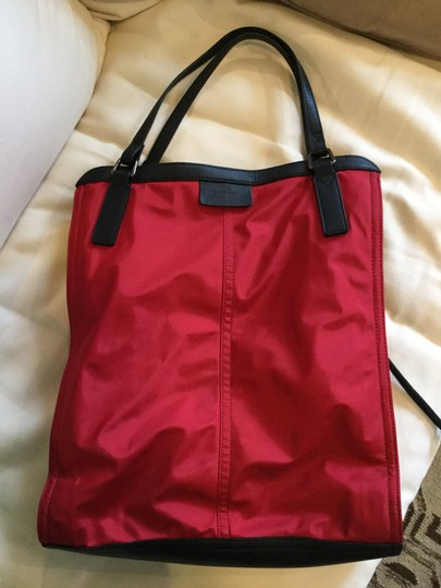 Burberry Tote in Red Image 5