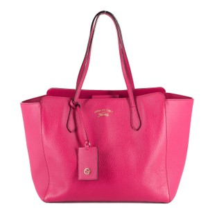 Gucci Bright Leather Tote in Hot Pink