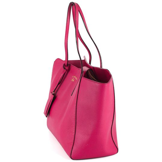 Gucci Bright Leather Tote in Hot Pink Image 1