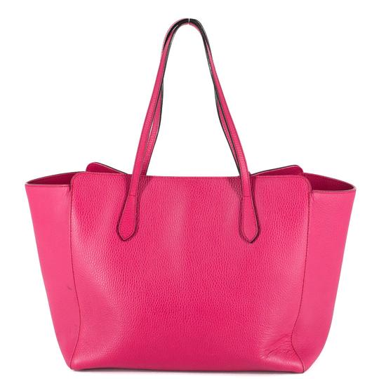 Gucci Bright Leather Tote in Hot Pink Image 2