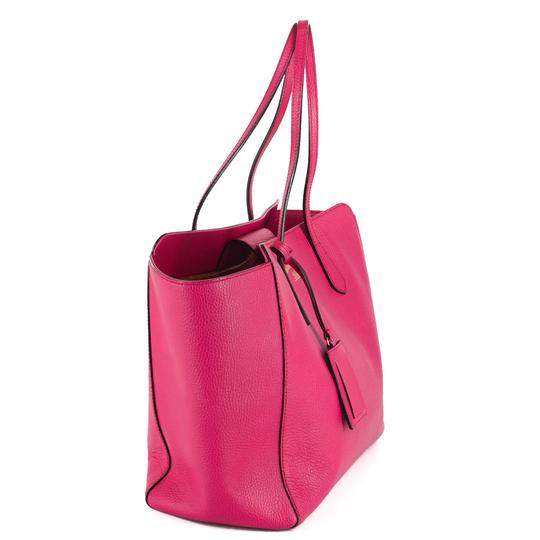 Gucci Bright Leather Tote in Hot Pink Image 3