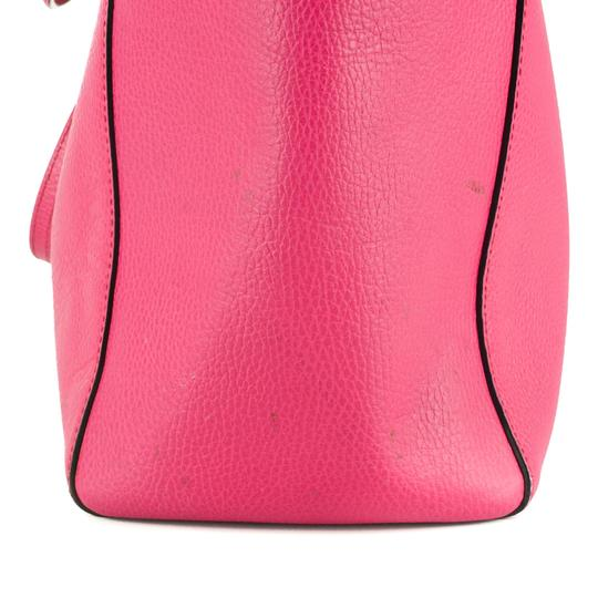 Gucci Bright Leather Tote in Hot Pink Image 9