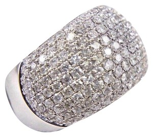 Other Round Diamond Cluster Pave Dome Ring Band 14k White Gold 2.60Ct