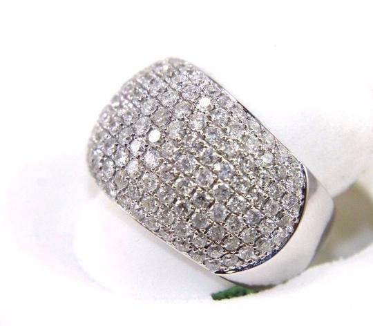 Other Round Diamond Cluster Pave Dome Ring Band 14k White Gold 2.60Ct Image 1