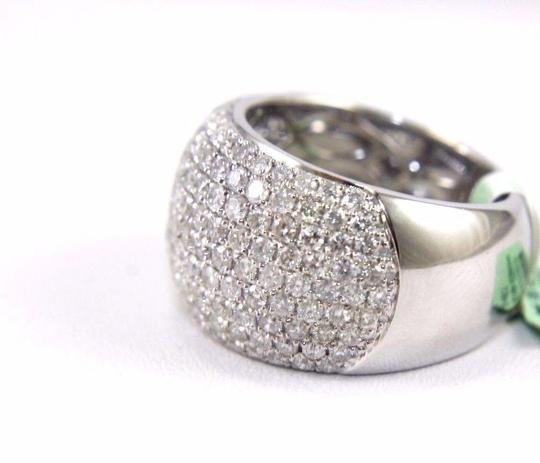 Other Round Diamond Cluster Pave Dome Ring Band 14k White Gold 2.60Ct Image 2