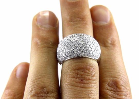 Other Round Diamond Cluster Pave Dome Ring Band 14k White Gold 2.60Ct Image 4