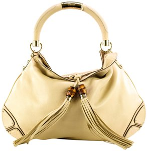Gucci Leather Gold Hardware Hobo Bag