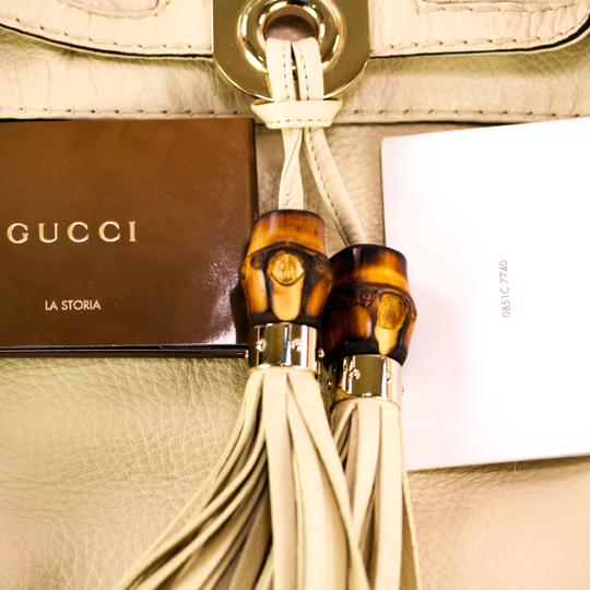 Gucci Leather Gold Hardware Hobo Bag Image 11