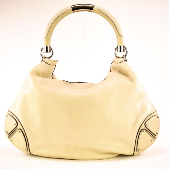 Gucci Leather Gold Hardware Hobo Bag Image 2