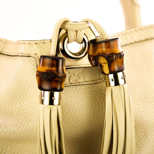 Gucci Leather Gold Hardware Hobo Bag Image 7