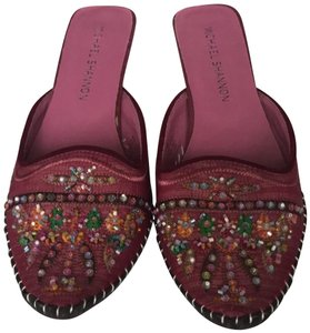 Michael Shannon Pink Beaded Work Pumps