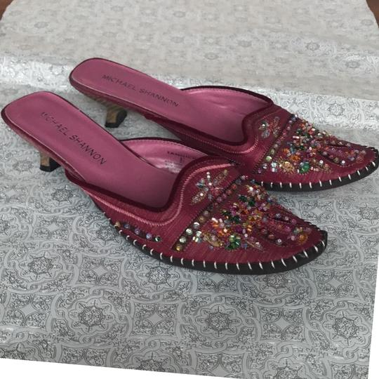 Michael Shannon Pink Beaded Work Pumps Image 1