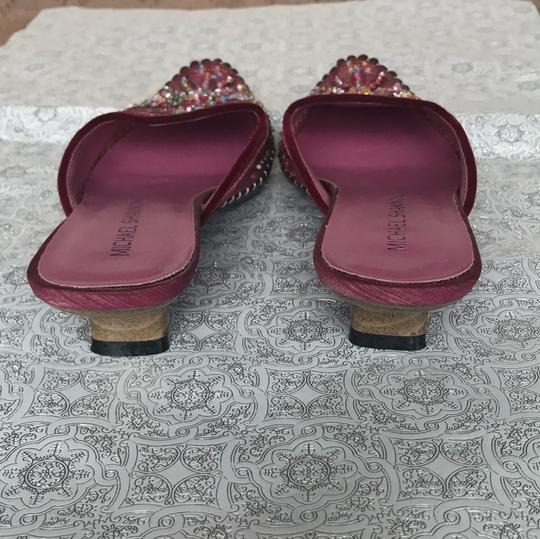 Michael Shannon Pink Beaded Work Pumps Image 3