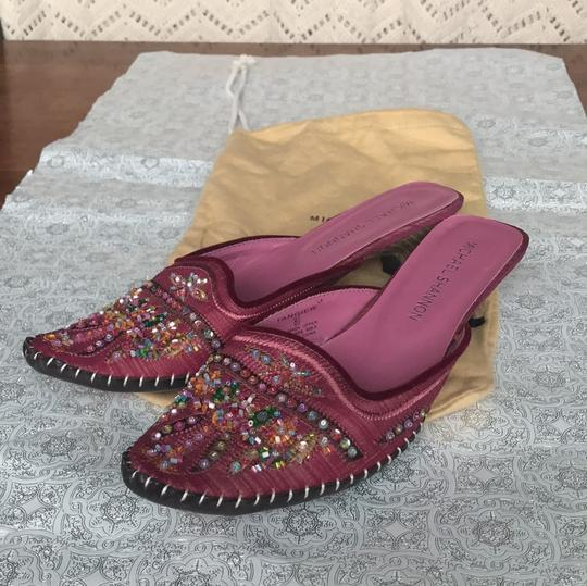 Michael Shannon Pink Beaded Work Pumps Image 8