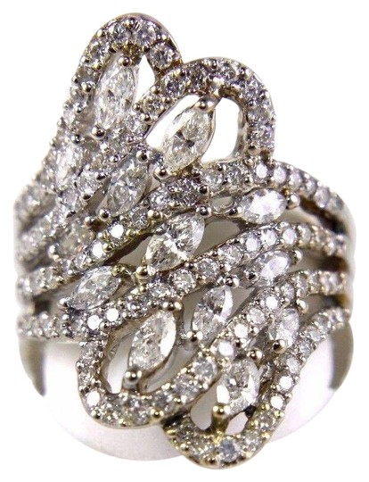 Preload https://img-static.tradesy.com/item/24608154/white-bypass-marquise-and-round-diamond-cluster-band-18k-wg-212ct-ring-0-1-540-540.jpg