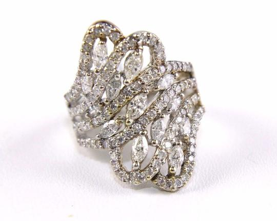 Other Bypass Marquise & Round Diamond Cluster Ring Band 18k WG 2.12Ct Image 5