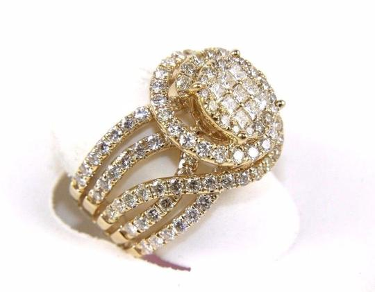 Other Princess & Round Diamond Cluster Spiral Infinity Ring 14k YG 1.89Ct Image 1