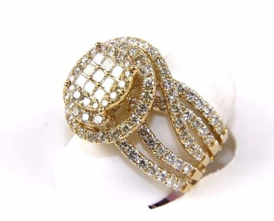 Other Princess & Round Diamond Cluster Spiral Infinity Ring 14k YG 1.89Ct Image 2