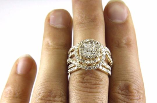 Other Princess & Round Diamond Cluster Spiral Infinity Ring 14k YG 1.89Ct Image 4