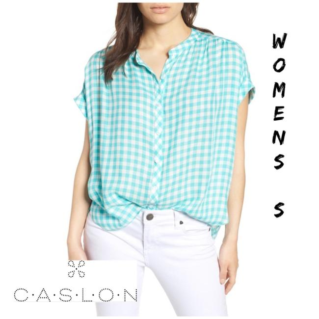 Item - Green Front Button Button-down Top Size 4 (S)
