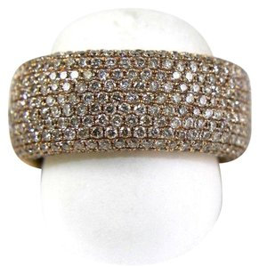 Other Wide Cluster Diamond Pave Dome Ring Band 14k Rose Gold 2.60Ct