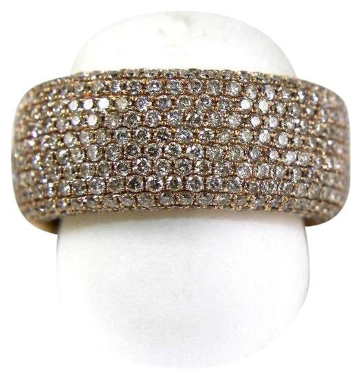 Preload https://img-static.tradesy.com/item/24608255/white-wide-cluster-diamond-pave-dome-band-14k-rose-gold-260ct-ring-0-1-540-540.jpg
