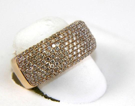 Other Wide Cluster Diamond Pave Dome Ring Band 14k Rose Gold 2.60Ct Image 1