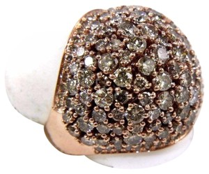 Other Fancy Color Round Diamond Cluster Dome Cigar Ring Band 14k RG 6.00Ct
