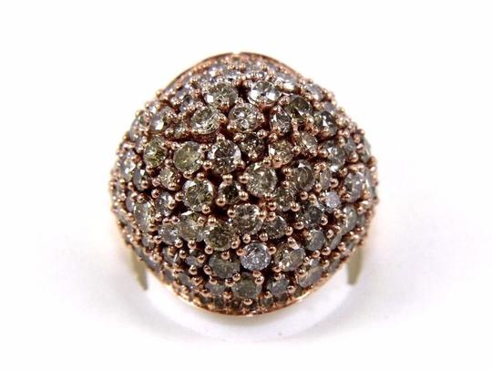 Other Fancy Color Round Diamond Cluster Dome Cigar Ring Band 14k RG 6.00Ct Image 1