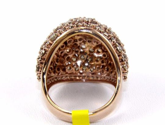 Other Fancy Color Round Diamond Cluster Dome Cigar Ring Band 14k RG 6.00Ct Image 7